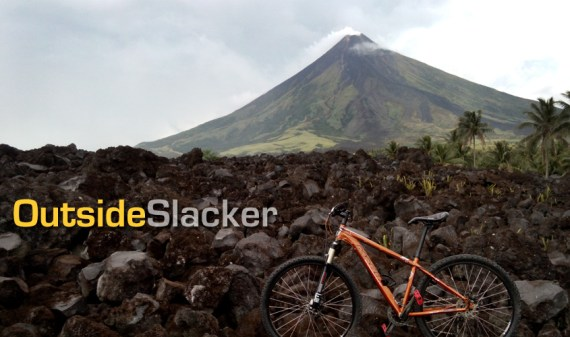 Mountain Bike on Mayon's Lava Wall