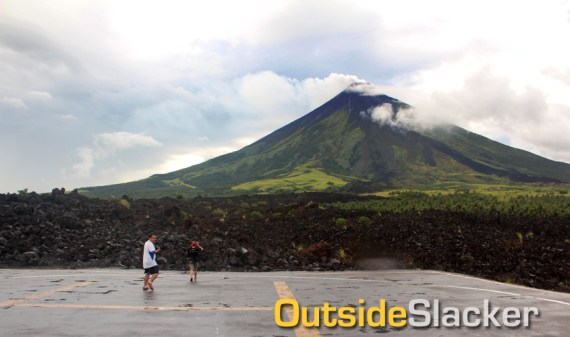 Helipad on Mayon's Lava Wall