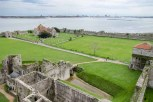 View from Portchester Castle looking towards Portsmouth Harbour