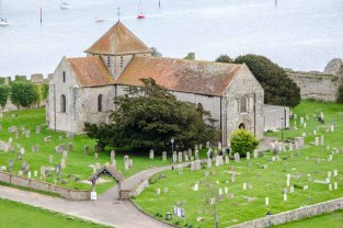 Norman church, Saint Mary's, an Anglican Church in the grounds of Portchester Castle