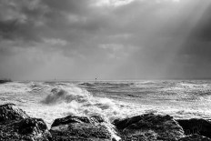Storm Imogen at Lee on the Solent
