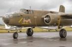 Post start up checks, North American TB-25N Mitchell, Sarinah, N5-149, Solent Airport at Daedalus