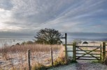 Frost and sunrise from Beacon Hill, Meon Valley