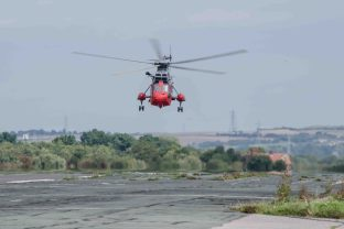 Sea King Mk5 SAR at Solent Airport Daedalus. XV666 brought out of retirement to provide SAR training to the German Navy