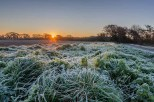Crisp / frosty start to the day along Ranvilles Lane Stubbington