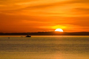Just one of the amazing sunsets over the Solent