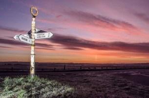 Pre dawn sky near Droxford in the Meon Valley, Hampshire