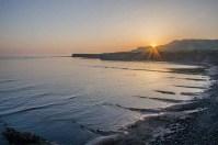 Sun setting over Kimmeridge Bay, Wareham Dorst