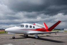 D Day 75 Daedalus. Cirrus Vision SF50 (2-UUER) at Solent Airport Daedalus to mark the 75th anniversary of the D-Day landings by allied forces in Normandy 1944