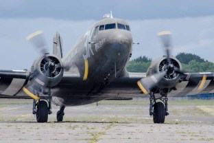 "Douglas Dakota ""Drag 'em Oot"" D Day 75 commemorations at Solent Airport Daedalus"