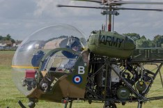 D Day 75 Daedalus. Agusta Bell Sioux AH Mk1 at Solent Airport Daedalus to mark the 75th anniversary of the D-Day landings by allied forces in Normandy 1944