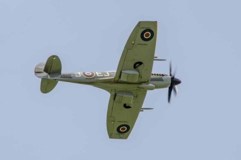 D Day 75 Daedalus. Supermarine Spitfire FRXIV (G-SPIT) at Solent Airport Daedalus to mark the 75th anniversary of the D-Day landings by allied forces in Normandy 1944