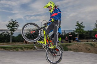 Wednesday evening gate practice and club competitors in the forthcomming UCI BMX World Championships in Zolder, Belgium.