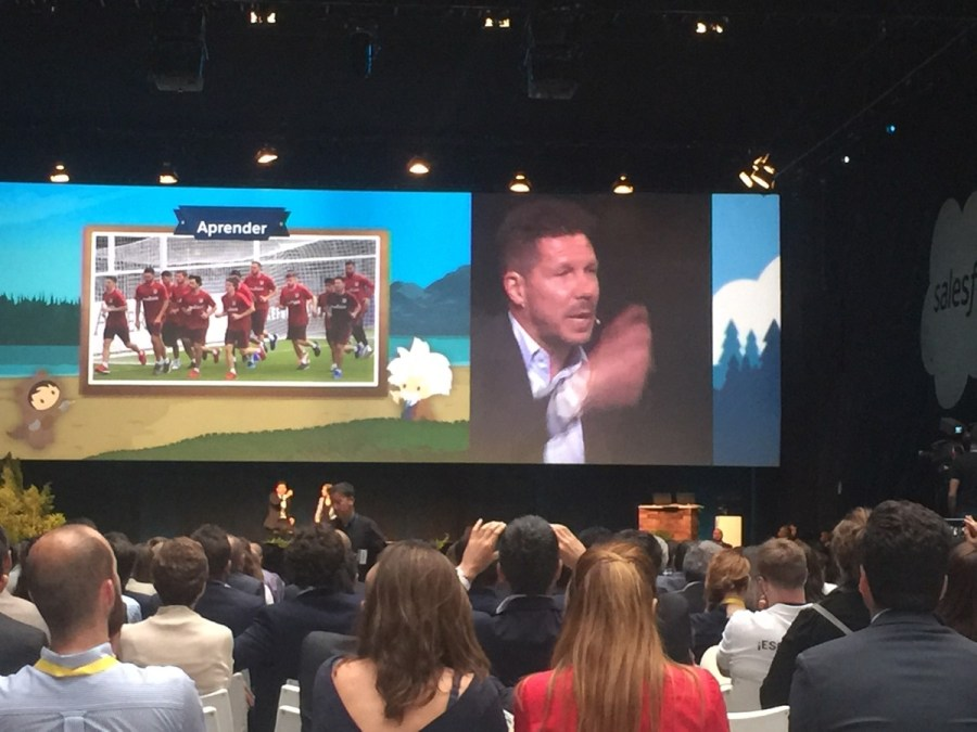 Cholo Simeone en Salesforce Essentials Madrid 2017