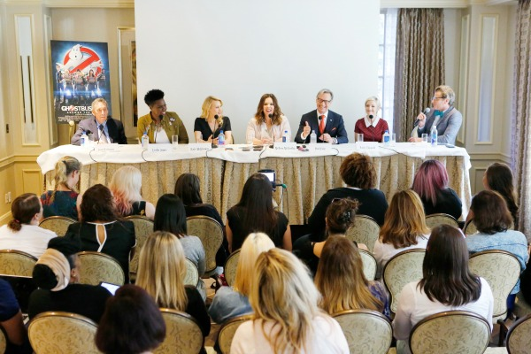 Los Angeles, Ca-- July 8,2016: Bloggers attend a Press Conference at the Press Junket for Columbia Pictures' GHOSTBUSTERS at the Four Seasons Hotel.
