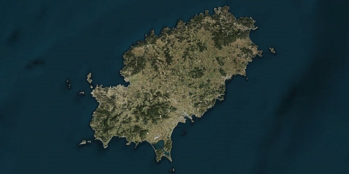 Ibiza Island   Daily Overview Ibiza from space