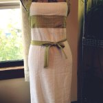 Full length terrycloth apron