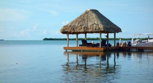 Belize, Caye Caulker: Oasen der Ruhe auf dem Weg zum Hol Chan Marine Reserve im Belize Barrier Reef