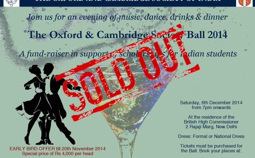 The Oxford and Cambridge Ball 2014