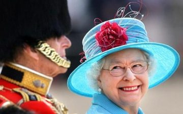 The Queen and the Duke. Pic from The Daily Telegraph
