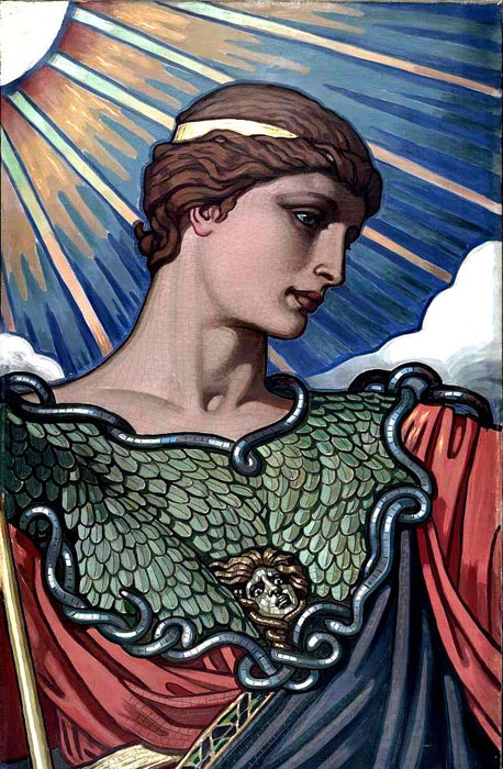 The goddess of wisdom in the Library of Congress, by Elihu Vedder