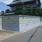 新大谷石の角門柱