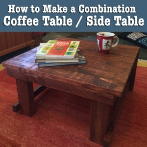 How to Make a Coffee Table / Side Table
