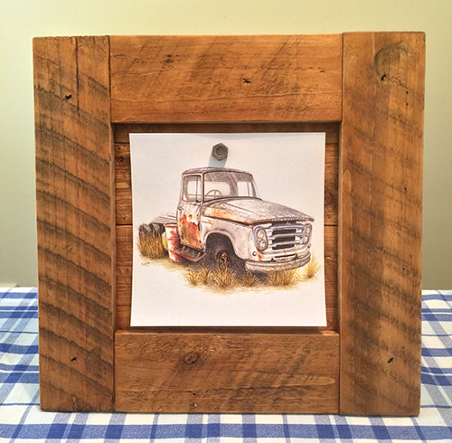 pallet wood picture frame finished