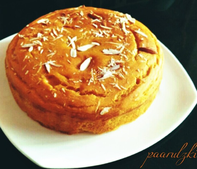 Sugarless Bliss- Eggless Mango cake
