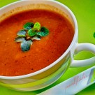 Roasted bell pepper & tomato soup (3)