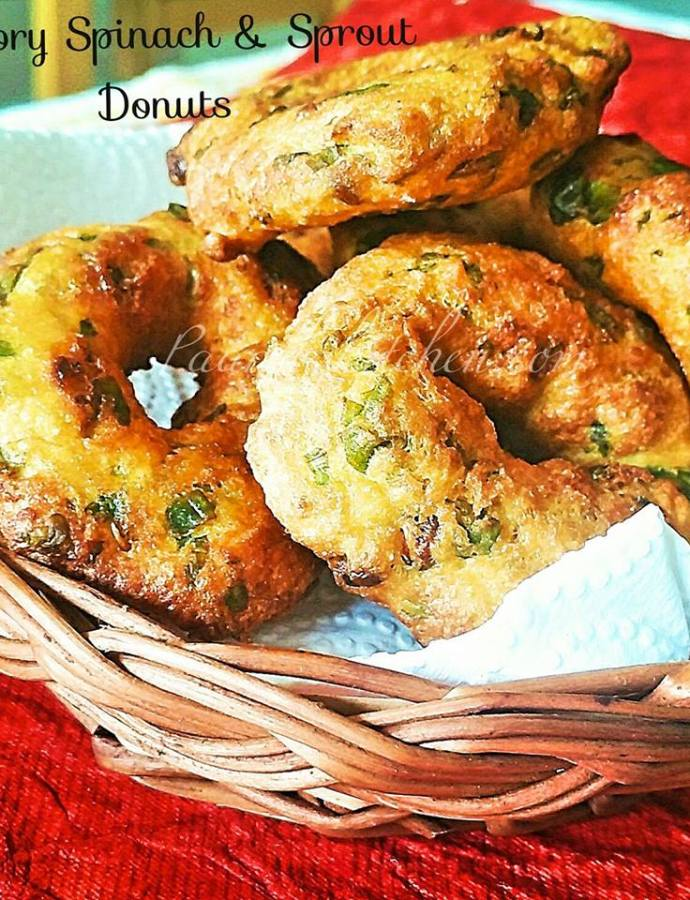 Savory Spinach & Sprout Donuts