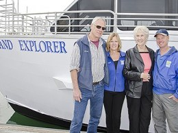 From left: Mark Connally, Cherryl Connally, Lillian Connally, and Alex Brodie of Island Packers. The closely-held business was started by family patriarch Bill Connally in the 1960s as the first company to offer public-access transporation to the Channel Islands. (Alex Drysdale photo)