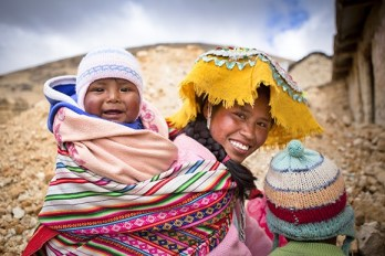 A Peruvian mother and her children in one of the communities that Santa Barbara-based nonprofit Vitamin Angels, which distributes nutrients, works with. (photo courtesy of Matt Dayka/Vitamin Angels)