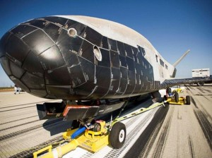 A shot of the craft after it landed at Vandenberg Air Force Base in 2012. (Courtesy photo)