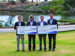 The team from ShadowMaps took home the grand prize and $20,000 total at last year's UC Santa Barbara New Venture Competition for their cloud-based software that supplements GPS in urban environments. (Photo courtesy UCSB TMP)