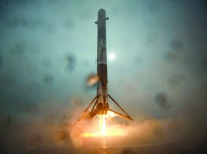 A SpaceX Falcon 9 rocket blasts off from Vandenberg Air Force Base on Jan. 17.