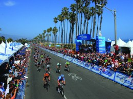 The 2015 Amgen Tour of California was well attended along coastal routes.