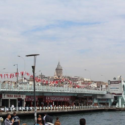 The Galata Bridge and the Galata Tower