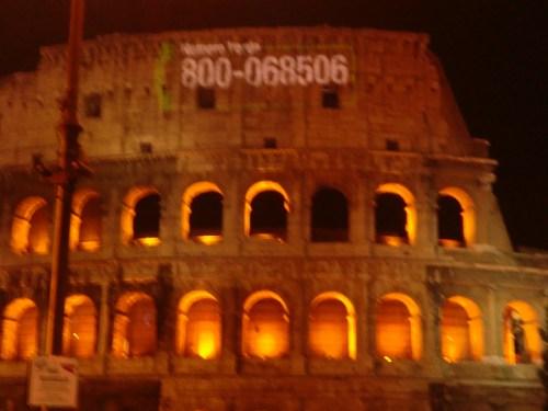Coliseo Romano publicitario. Nuevos usos