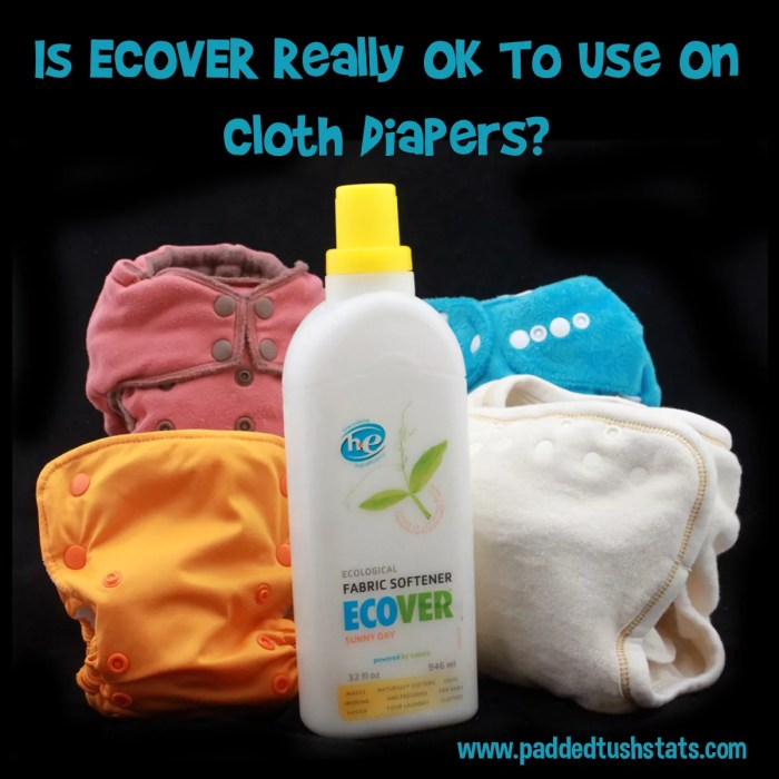 Is ECOVER Fabric Softener REALLY Good to Use on Cloth Diapers? See what parents who have used it have to say about how it affected their diapers!