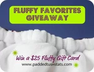 April Fluffy Favorites Giveaway! $25 Gift Card - Ends 4/30/16