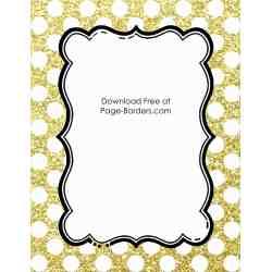 Extraordinary G Glitter Free Polka Dot Border Templates Colors G Glitter Border G Glitter Border Paper inspiration Gold Glitter Border