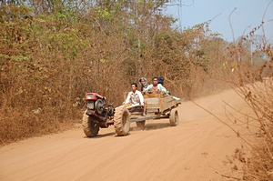 Laos - Vietnam border road