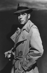 Humphrey Bogart consumiendo tabaco en Casablanca.