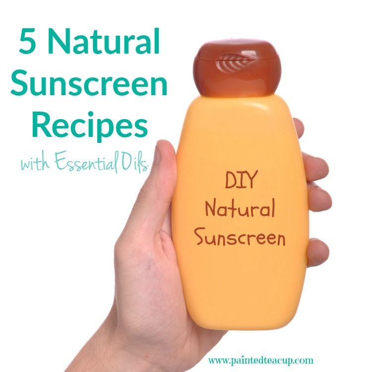 5 Natural Sunscreen Recipes with Essential Oils. Make your own diy essential oil sunscreen this summer!
