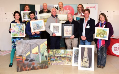 Paint Out Norwich 2016 Winning Artists and Paintings - photo by Simon Finlay