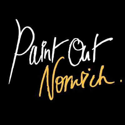 Paint Out Norwich logo on black