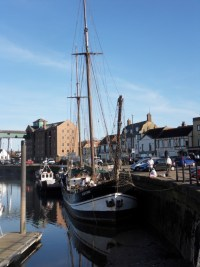 The Albatros moored at Wells-next-the-Sea
