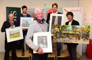 Paint Out Norwich 2016 Awards and private view at the Hostery, Norwich Cathedral. Photo Simon Finlay
