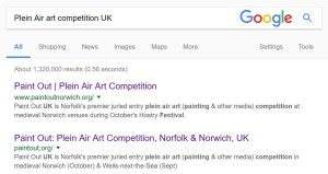 Plein Air art competition UK Google search results 2017 top 2